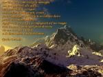 perchè vivere e come scalare le montagne prova