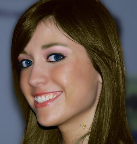 Cambiamento di colore ad occhi e capelli trucco ritocco - Occhi colori diversi ...