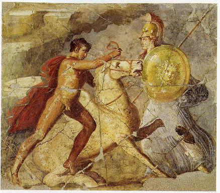 Bellerofonte e Pegaso (Pompei, la casa dei dioscuri)