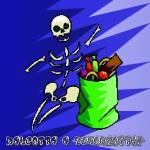 dolcetto o scherzetto scheletro
