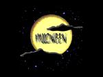 luna gialla con scritta