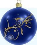 palla blu ed oro 1 con gancio