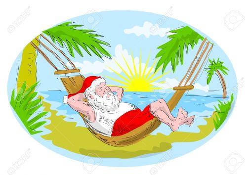 5790438-cartoon-illustration-of-santa-claus-in-hammock-relaxing-in-tropical-beach-Stock-Illustration